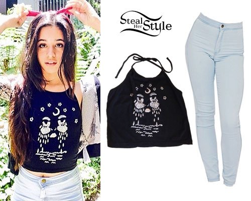 Camila cabello moon tears halter top steal her style