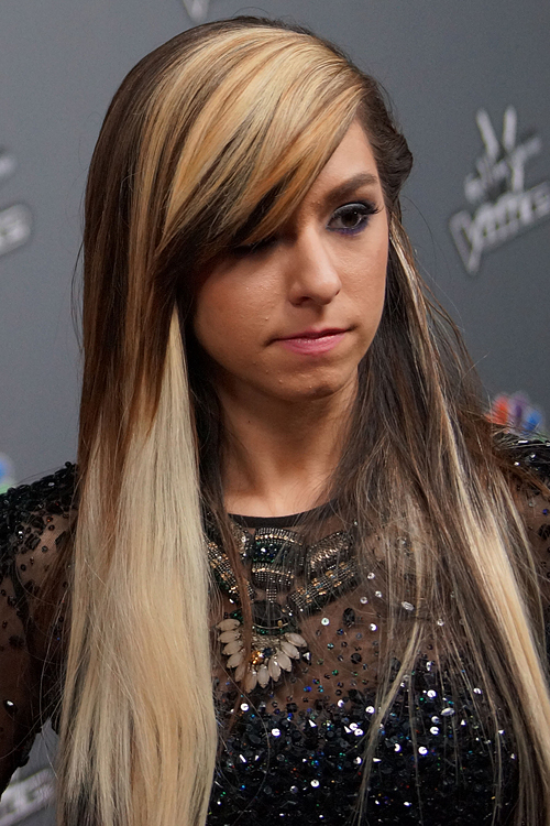 dark blonde hair styles grimmie brown side part sideswept 9552 | christina grimmie hair 5