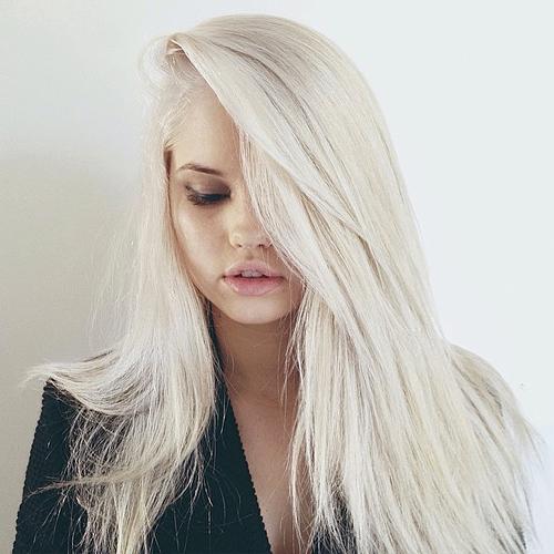 Debby Ryan Straight Platinum Blonde Side Part Hairstyle