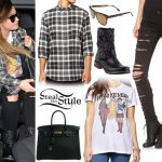 Demi Lovato: Ripped Jeans, Clueless Tee
