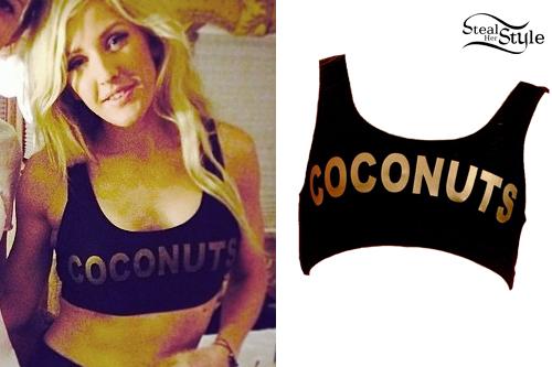 Ellie Goulding: Coconuts Sports Bra
