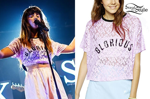 Foxes: 'Glorious' Purple Lace Tee