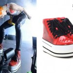 Hayley Williams: Red Spike Platform Shoes