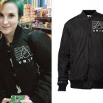 Hayley Williams: Black UNIF Bomber Jacket