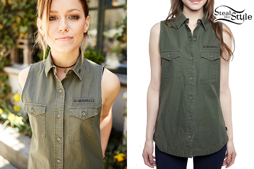 Jenna McDougall: Sleeveless Army Jacket