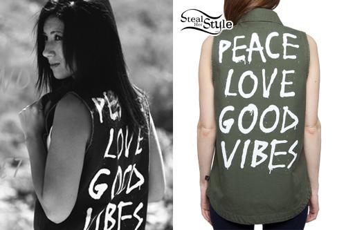Jess Bowen: Good Vibes Army Jacket