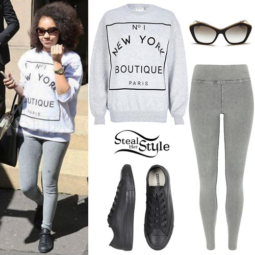 ed2b979c0094 Leigh-Anne Pinnock outside her hotel in Glasgow. May 21, 2014 - photo