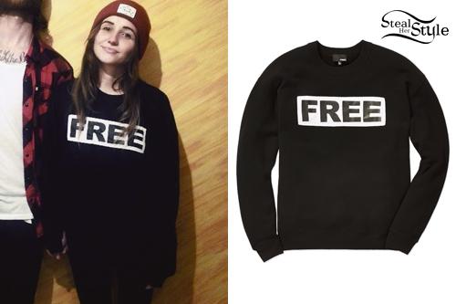 LIGHTS: 'Free' Graphic Sweater