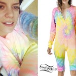 Lily Allen: Tie Dyed Thermal Onesie