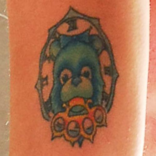 Maria Brink Teddy Bear & Brass Knuckles Arm Tattoo | Steal Her Style