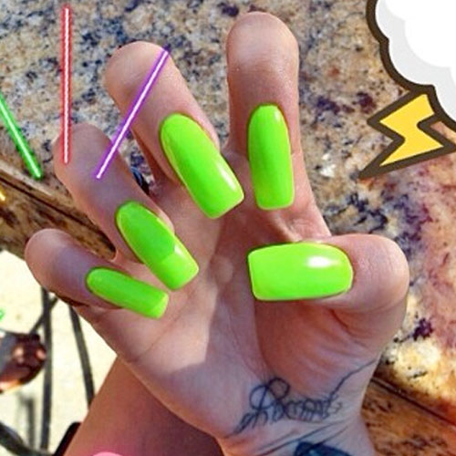 61 Celebrity Lime Green Nail Polish Photos Page 4 Of 7 Steal Her