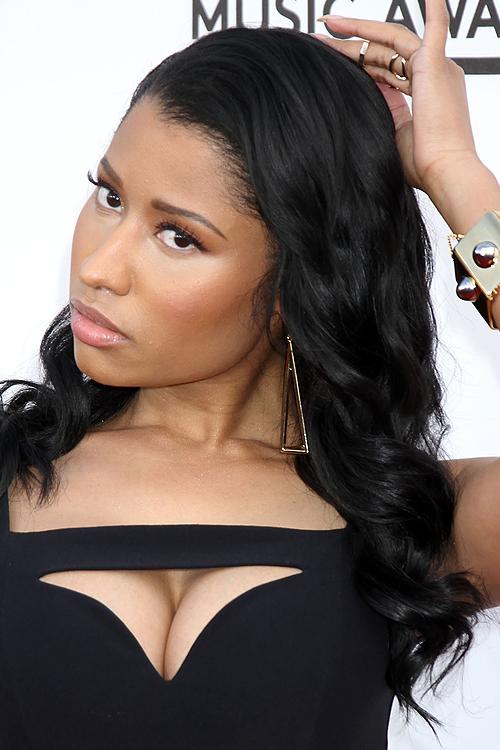 Nicki Minaj Curly Black Side Part Hairstyle Steal Her Style