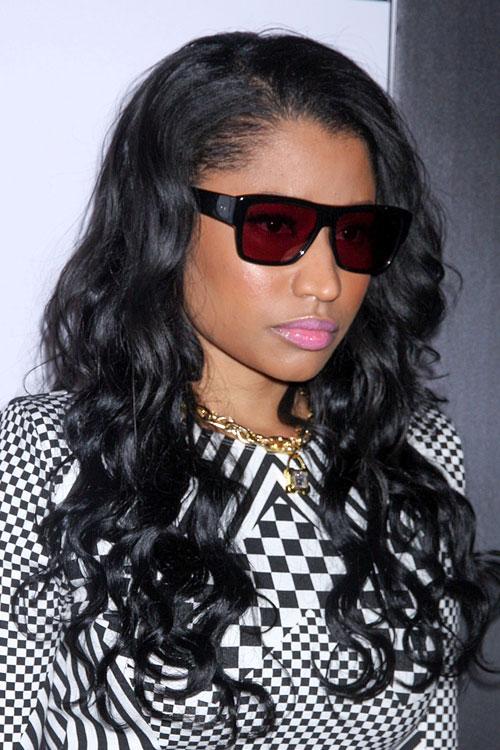 Nicki Minaj Curly Black Hairstyle