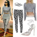 Nicki Minaj: Checkered Top, Advisory Leggings