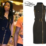 Nicki Minaj: Zipper-Front Dress