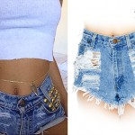 Pia Mia Perez: Gold Studded Denim Shorts