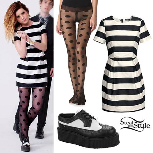Sydney Sierota: Black & White Striped Dress