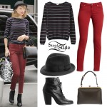 Taylor Swift: Striped Sweater, Red Jeans