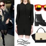 Vanessa Hudgens: Silk Romper, Tassel Boots