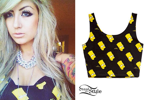 Allison Green: Bart Simpson Crop Top