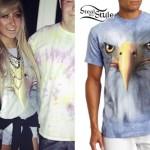 Allison Green: Blue Eagle Face T-Shirt