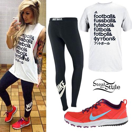 Allison Green: Football Tee, Nike Leggings