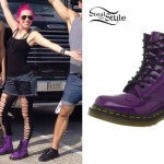 Ariel Bloomer: Purple Dr Martens Boots