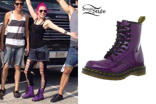 Ariel Bloomer: Purple Dr Martens Boots