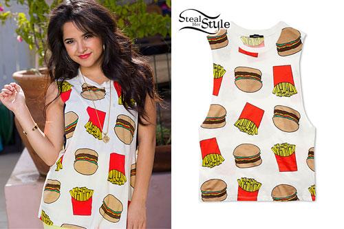 Becky G: Burger & Fries Tank Top