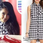 Becky G: Black & White Plaid Sleeveless Tunic