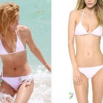 Bella Thorne: White Beaded Bikini