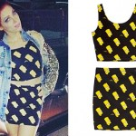 Bonnie McKee: Bart Simpson Top & Skirt