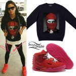 Cassie: Ski Mask Hoodie, Red October Sneakers