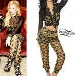 Chanel West Coast: Chain Print Blouse & Pants