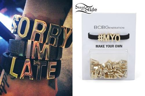 Cher Lloyd: 'Sorry I'm Late' Bracelets