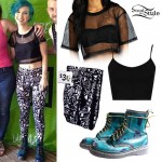Hayley Williams: Mesh Crop Tee, Paramore Leggings