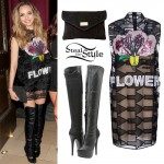 Jade Thirlwall: Flower Dress, Knee High Boots