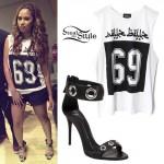 Jasmine Villegas: 69 Athletic Tee, Grommet Sandals