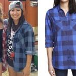 Jess Bowen: Blue Check Long Sleeve Shirt