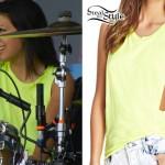 Jess Bowen: Neon Yellow Muscle Tee