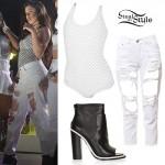 Lauren Jauregui: Ripped Jeans, Mesh Bodysuit