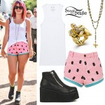 Lily Allen: Watermelon Shorts, Pill Shorts