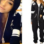 Madison Beer: Black Graphic Onesie
