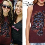 Mercedes Arn-Horn: Maroon Panther Muscle Tee