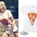 Mindy White: My Date Is Pizza T-Shirt