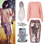 Natalia Kills: Clear Jelly Flats Outfit