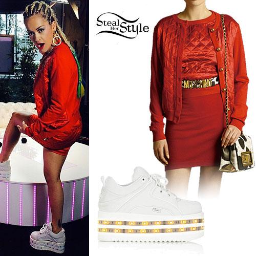 Rita Ora: Light-Up Platform Sneakers