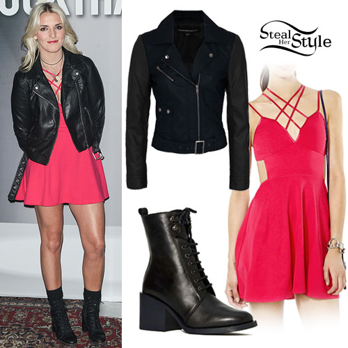 Rydel Lynch: Pink Strappy Dress Outfit