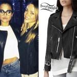 Selena Gomez: Leather Biker Jacket