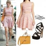 Taylor Swift: Pink Crop Top & Skirt